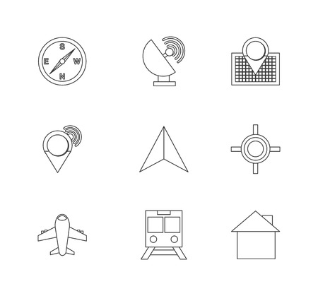 antena: gps set  icon design, vector illustration eps10 graphic