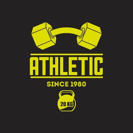 athletic: athletic training design, vector illustration eps10 graphic Illustration