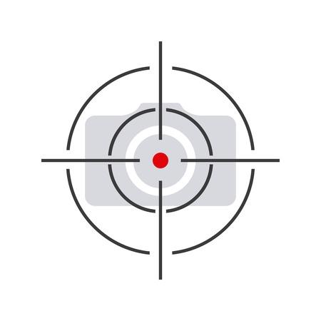 concentrer la conception de l'appareil photo, illustration graphique eps10 Vecteurs
