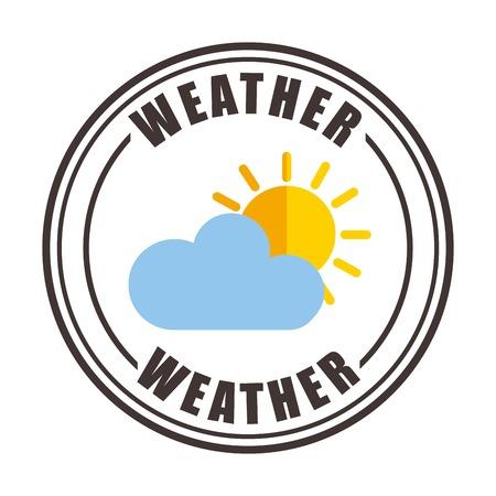weather symbols: weather symbols design, vector illustration eps10 graphic Illustration