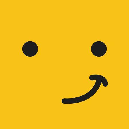 emoticon face design, vector illustration eps10 graphic