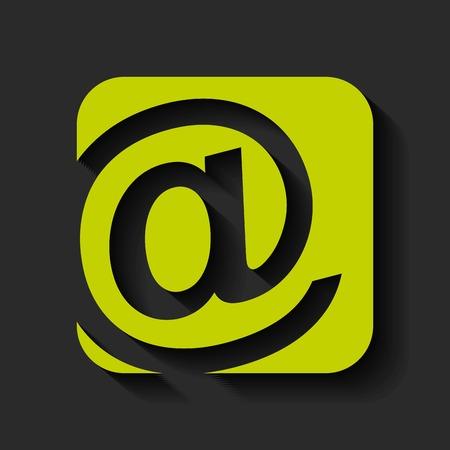arroba: arroba icon design, vector illustration eps10 graphic