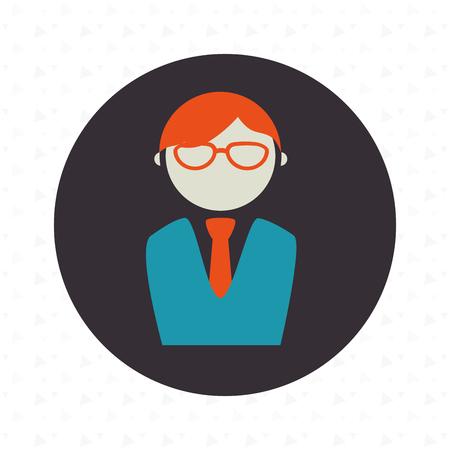 yuppie: businessman isolated design, vector illustration eps10 graphic