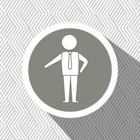 yuppie: businessman isolated design, vector illustration  graphic