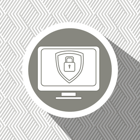 encryption icon: security system design, vector illustration  graphic