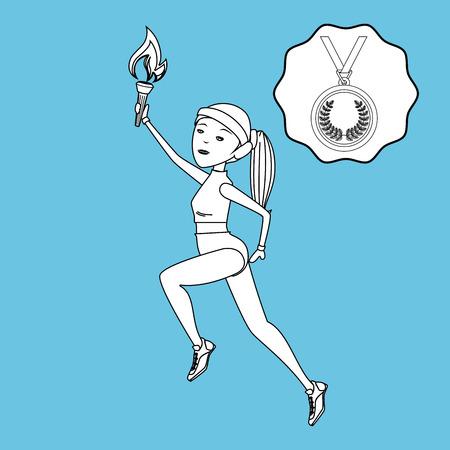 olimpic: olimpic sport  design, vector illustration  graphic Illustration