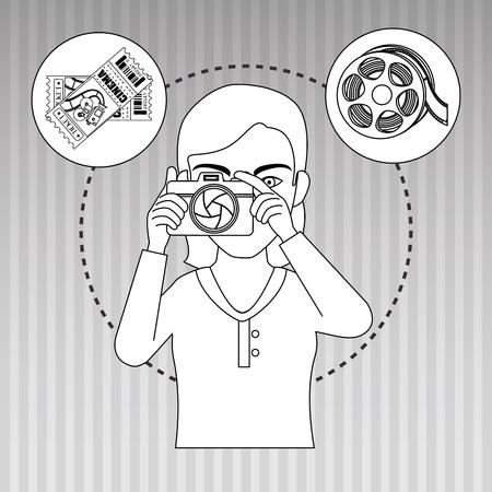 multimedia pictogram: cinema icon design, vector illustration  graphic Illustration