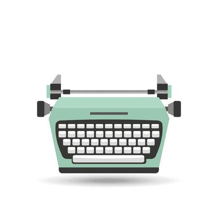 classic authors: retro typewriter design, vector illustration  graphic