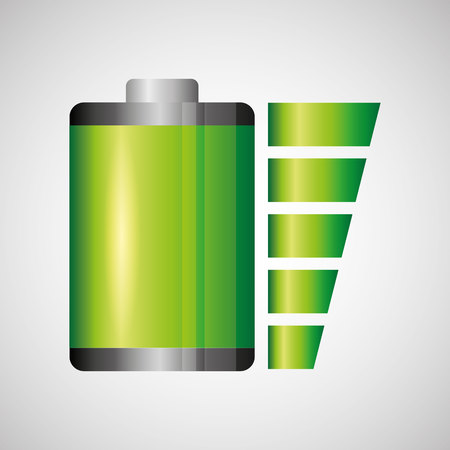 gasoline powered: battery power design, vector illustration  graphic