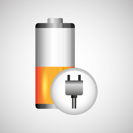 petrol powered: battery power design, vector illustration  graphic