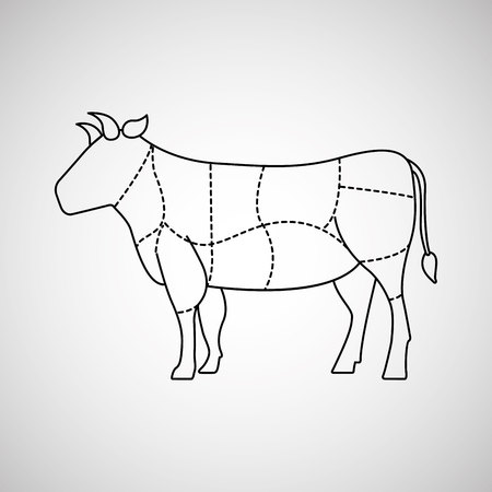 Butcher shop design, vector illustration graphic