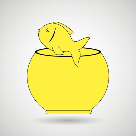 fish tank: fish in fish tank design, vector illustration  graphic Illustration