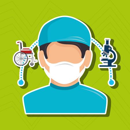 graphic illustration: health professional design, vector illustration  graphic Illustration