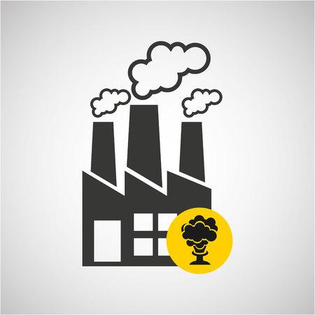 graphic illustration: industrial plant design, vector illustration  graphic Illustration