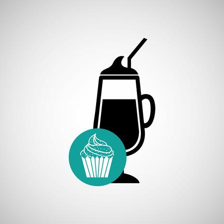graphic illustration: food menu design, vector illustration  graphic