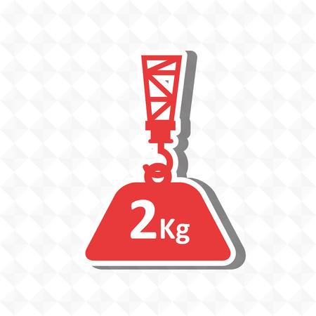 hook up: crane lift design, vector illustration eps10 graphic