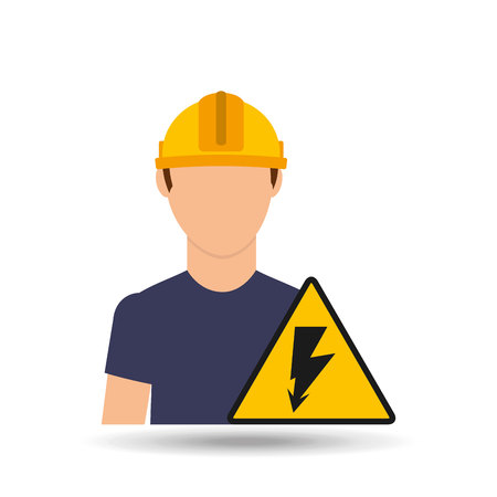 industrial worker: electrician isolated design, vector illustration eps10 graphic