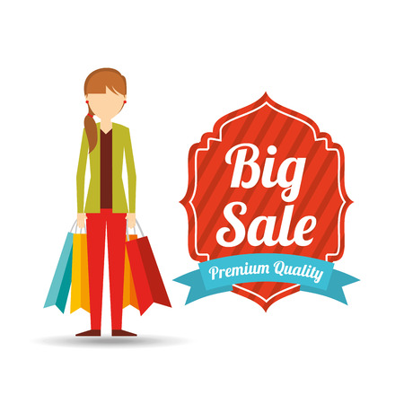 shopping people: people shopping design, vector illustration eps10 graphic Illustration