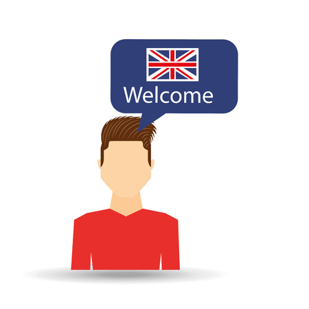 teach: learn english design, vector illustration eps10 graphic