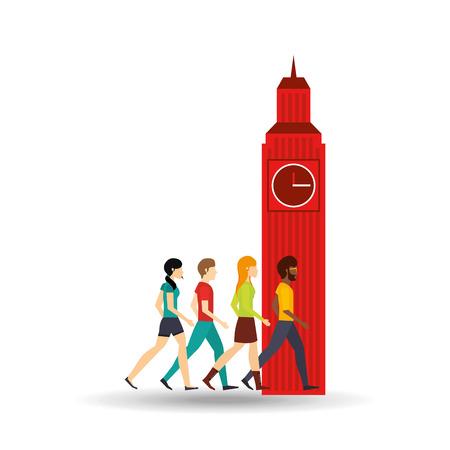 visit: visit london design, vector illustration eps10 graphic Illustration
