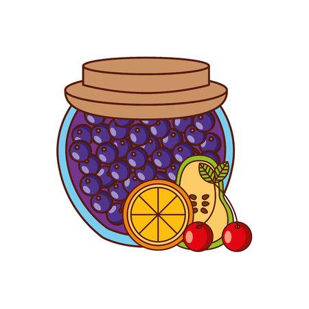 fruits conception de la confiture, vecteur illustration graphique eps10