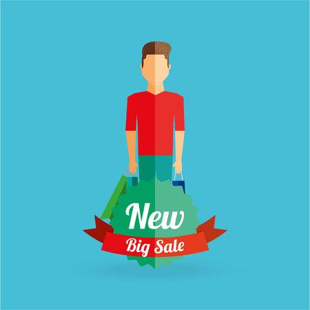 happy shopper: people shopping design, vector illustration eps10 graphic Illustration