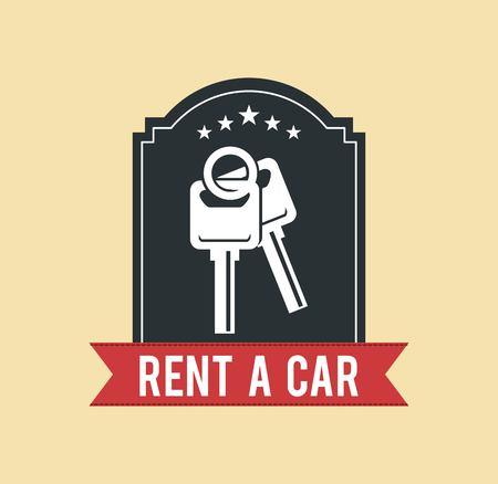 best travel destinations: rent a car design, vector illustration eps10 graphic Illustration