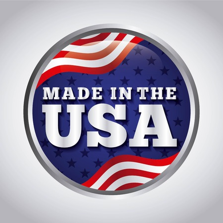 made in the usa design, vector illustration eps10 graphic Stock Illustratie