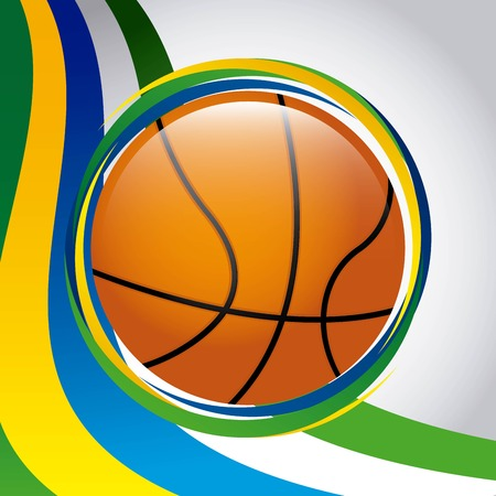 balon baloncesto: rio 2016 design, vector illustration eps10 graphic