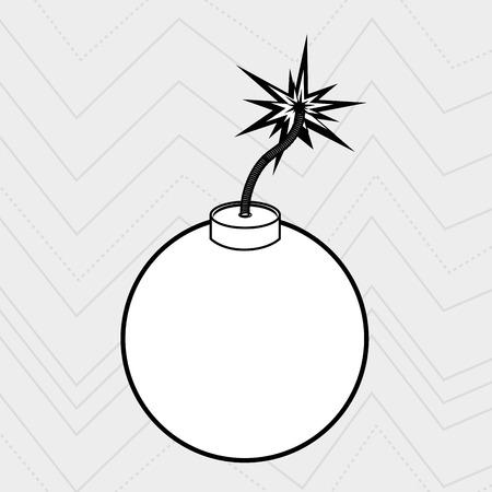 explosive: explosive cartoon design, vector illustration eps10 graphic