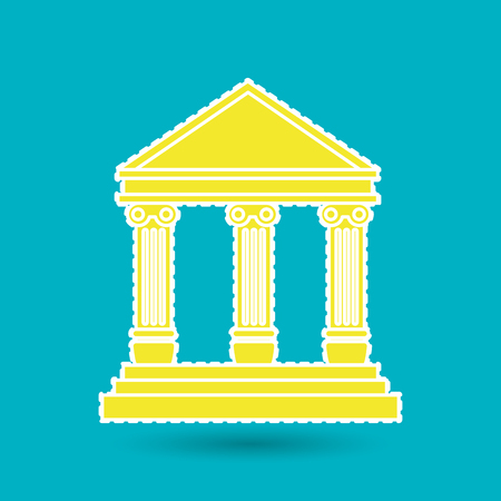 supreme: court building design, vector illustration eps10 graphic Illustration