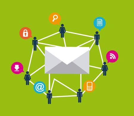 mail marketing design, vector illustration eps10 graphic