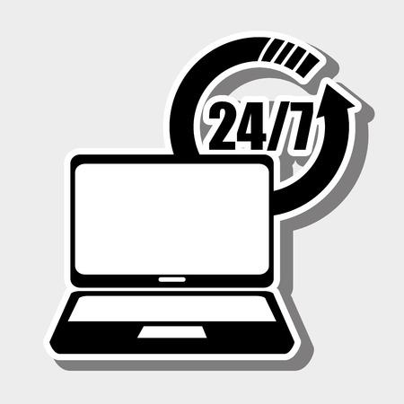 helpline: customer service design, vector illustration eps10 graphic Illustration