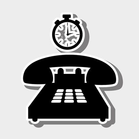telemarketer: customer service design, vector illustration eps10 graphic Illustration