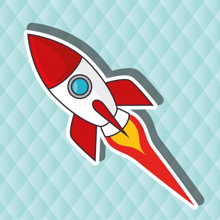 rocketship: rocket cartoon design, vector illustration eps10 graphic