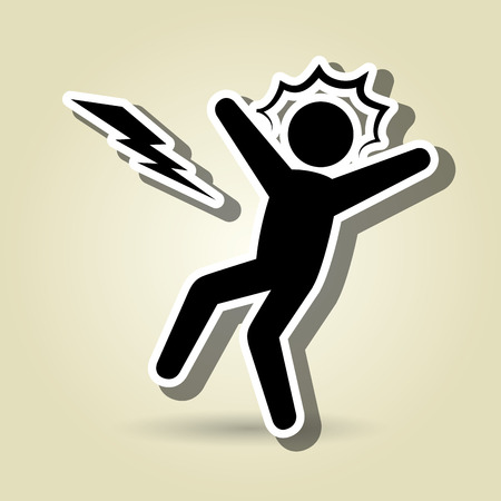 slip hazard: alert symbol design, vector illustration eps10 graphic