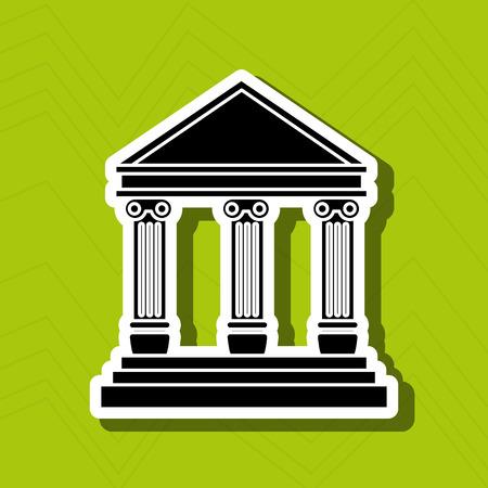 governmental: court building design, vector illustration eps10 graphic Illustration
