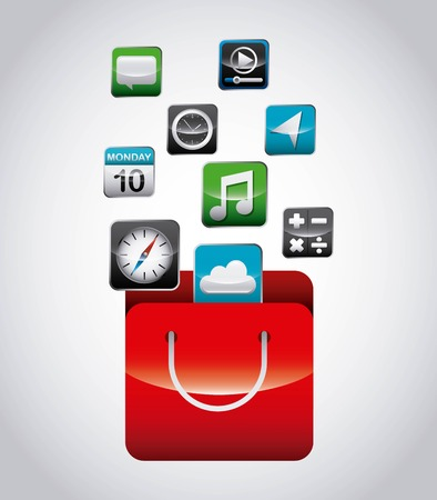 app store: app store design, vector illustration eps10 graphic