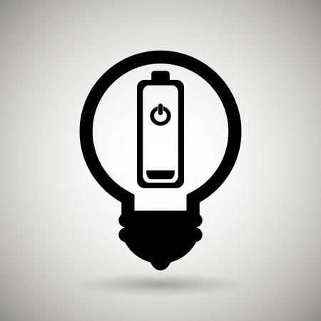 diseño de energía de la batería, ilustración vectorial gráfico eps10