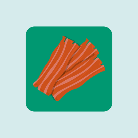 bacon strips: bacon isolated design, vector illustration eps10 graphic Illustration