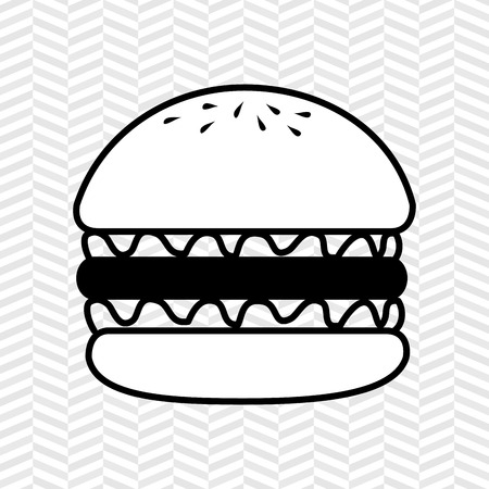 delicious: delicious burger design, vector illustration eps10 graphic