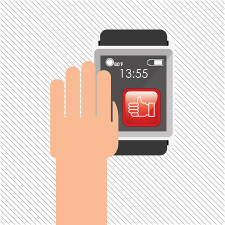 wearable: wearable technology design, vector illustration eps10 graphic
