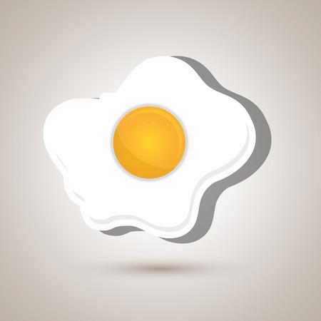fried eggs: fried eggs design, vector illustration eps10 graphic