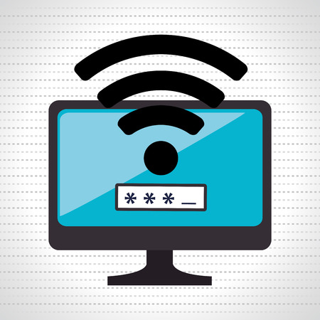 secure site: security password  design, vector illustration eps10 graphic Illustration