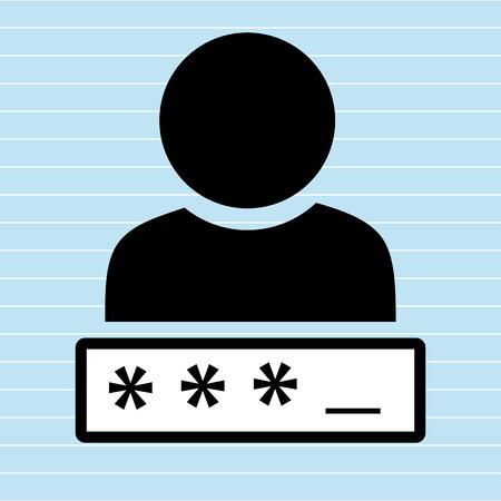 la conception de mot de passe de sécurité, illustration vectorielle