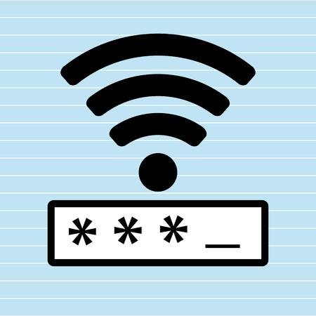 password: security password  design, vector illustration