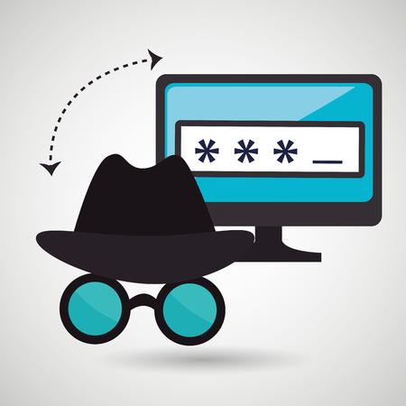 data entry: security password  design, vector illustration