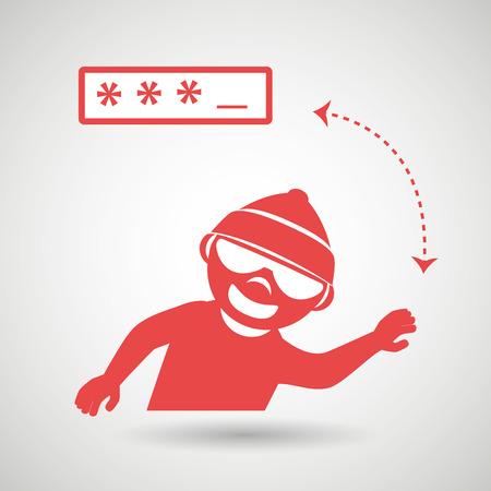contraseña: diseño de la seguridad de contraseña, ilustración vectorial Vectores