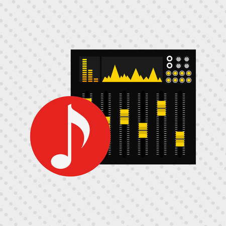 graphic illustration: musical production design, vector illustration eps10 graphic