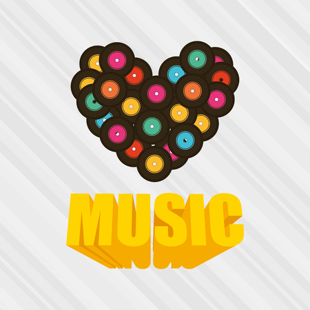 design media love: musical production design, vector illustration eps10 graphic